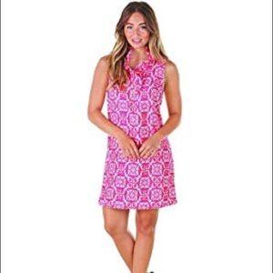 NWT Mudpue Whitney ruffle dress pink